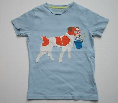 Boys Mini Boden Dog Beach Pail Applique Tee Size 7 8 Years