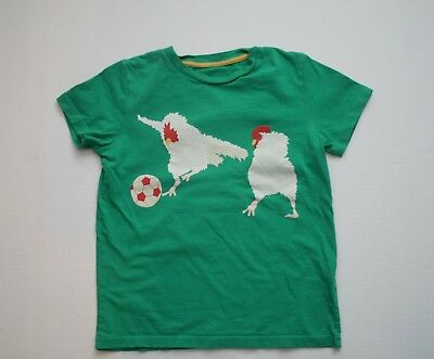 Boys Mini Boden Animal Sports Day Chicken Soccer Tee Size 7 8  Years