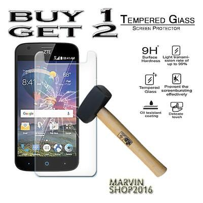 Genuine Tempered Glass Film Screen Protector Cover For ZTE Zmax Champ