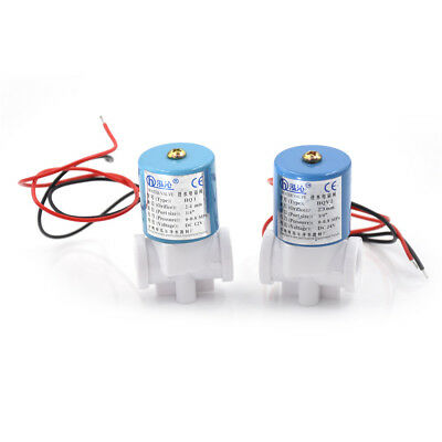 """DC 24V 1/4"""" Electric Solenoid Valve Feed For RO Water Air Quick Connector N/C"""