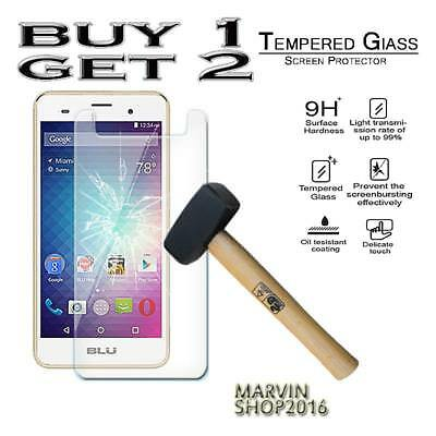 Genuine Tempered Glass Film Screen Protector Cover For BLU Grand M2