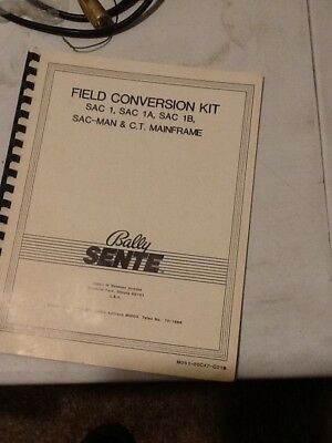 Arcade Gaming Manuals & Guides Sac 1a Schematics Only Bally Sente Arcade Game Owners Manual