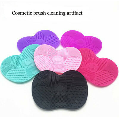 Silicone Makeup Brush Cleaner Mat Cleaning Cosmetic Scrubber Board Pad Tool