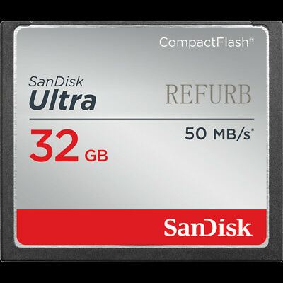 SanDisk 32GB Ultra CompactFlash CF Memory Card 50MB/S SDCFHS-032G 100% GENUINE R