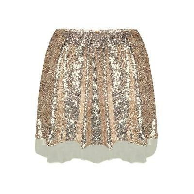 Sequin Shiny Club Party Mini Skirt Dress Dance Bling Sexy Women M0K4