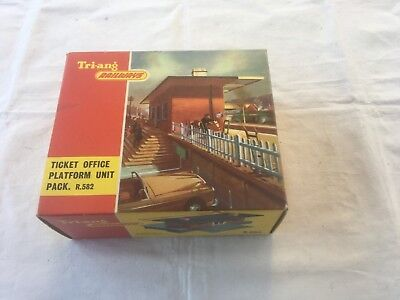 Triang Railways Ticket Office Platform unit pack in OO scale.