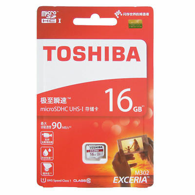 TOSHIBA EXCERIA 16GB Micro SD C10 4K U1 90MB/s Card Samsung Kingston Lexar lot