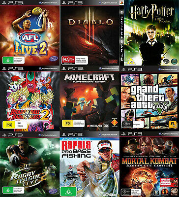 Playstation 3 PS3 Games - Choose Your Own Title *Free Next Day Post from Sydney*
