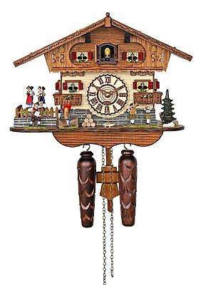 Trenkle Quartz Cuckoo Clock - The Bavarian Musicians AH 447 QMT NEW