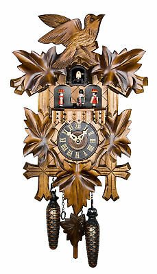 Engstler Quartz Cuckoo Clock - The Traditional Vine Leaves AH 532 QMT NEW