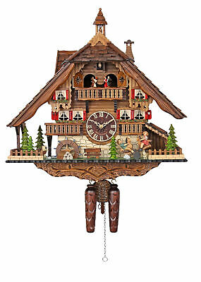Engstler Quartz Cuckoo Clock - Fun on the See-Saw AH 4896 QMT NEW