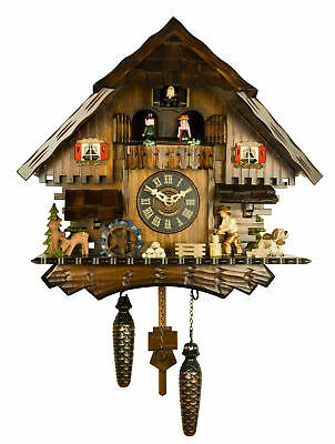 Engstler Quartz Cuckoo Clock - The Busy Wood Chopper AH 474 QMT NEW