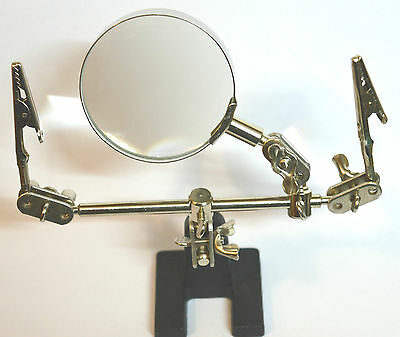 Helping Hands 63mm Magnifying Glass Inspection Detailing Crafting DIY Hobby Tool