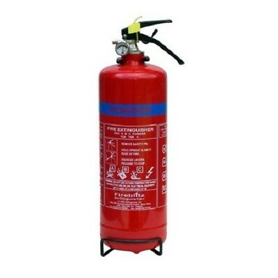 Dry Powder Fire Extinguisher 2kg (13A 70B) Narrowboat/Canalboat/Boat Safety