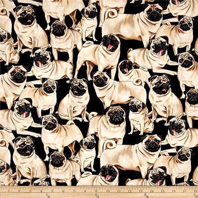 Pug Quilting Fabric