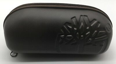 New Timberland Sunglasses Eyeglass Case Brown Zippered Case Authentic