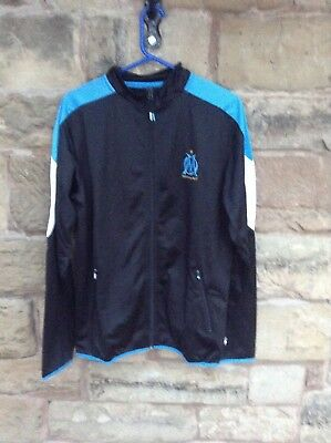 Brand New With Tags 17/18 Olympique De Marseille Tracksuit Top & Trousers Black