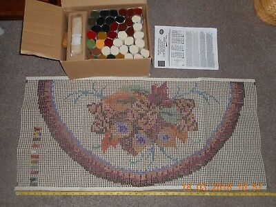 Printed Readicut Flower Rug Making Kit Everything Included Within Its Own Box