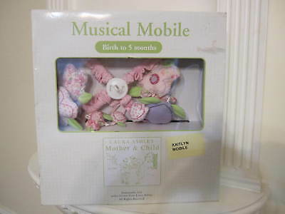 Laura Ashley  Musical Mobile Girl's Nursery Pink Flower