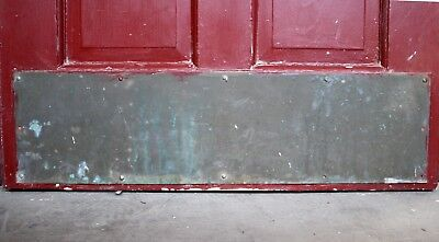 "30""x8"" Antique Vintage Solid Brass Patina Door Push Kick Foot Plate Commercial"