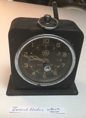 OLD General Electric vintage Interval Timer clock XRAY Department (working)