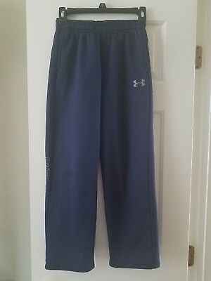 Kids Unisex Under Armour Navy Athletic Pants Size Youth Med