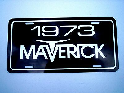 1973 Ford MAVERICK aluminum car tag license plate 73 Grabber 302 compact sprint