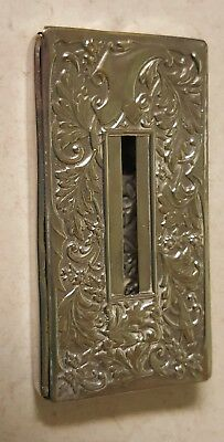Antique Art Nouveau Silver Metal Purse Size Card Tissue Case Stamped JWB England