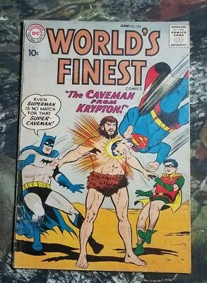 DC World's Finest #102 1959 Comic Book Caceman From Krypton CS