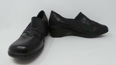 0d78abb44ca0 New Womens Thom McAn Deidre Heeled Loafer Style 40345 Wide Avail Black  410A-E pr