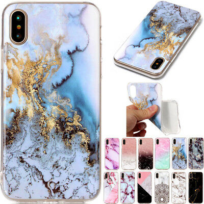 Ultra Slim Marble Soft TPU Silicone Back Case Cover For Samsung S9 A8(2018) J530