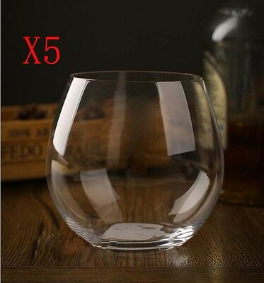 New 5X Capacity 570ML Height 100MM Transparent Whisky Wine Glass/Glassware %