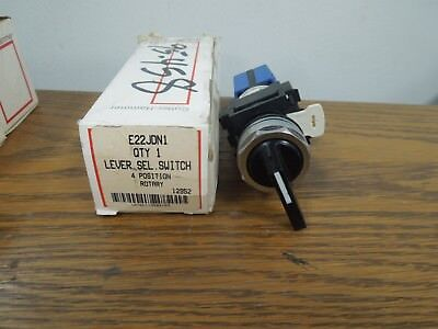 Cutler-Hammer E22JDN1 4 Position Rotary Lever Selector Switch New Surplus
