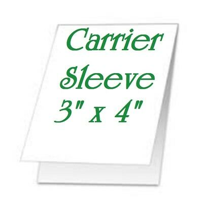 5 Carrier Sleeve's For Laminating Laminator Pouches Size 3-1/8 x 4-1/2 Coated