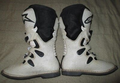 ALPINESTARS TECH 8 BOOTS, White, very good condition, Free Freight!