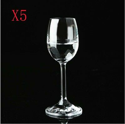 New 5X Capacity 60ML  Height  135MM  Transparent  Red Wine Glass/Glassware %