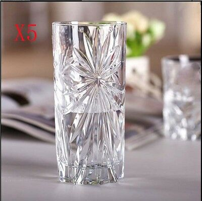 New 5X Capacity 350ML Height 150MM High Body Whisky Wine Glass/Glassware %