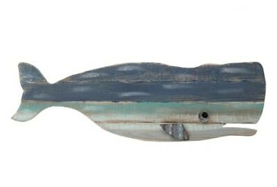 LG Painted Whale Wood Wall Decor Lake house Ocean beach & sea theme home decor