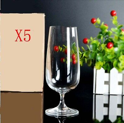 New 5X Capacity 380ML Height 183MM Lead Free Beer Wine Glass/Glassware %