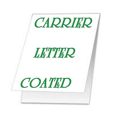 (QTY 1) Carrier Sleeve For Laminating Laminator Pouches LETTER SIZE Coated