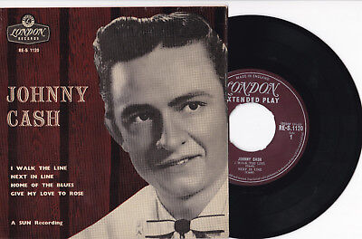 """JOHNNY CASH - 7"""" EP 45 London Records (RE-S 1120)"""