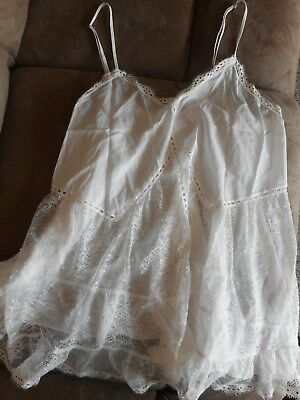 Victoria's Secret Dream Angels Size Small Off-White Babydoll Teddy New!