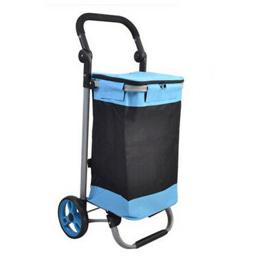 E141 Rugged Aluminium Luggage Trolley Hand Truck Folding Foldable Shopping Cart