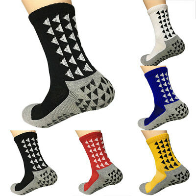 Football Socks Anti-Slip Pattern Multi Color Triangle Yout Men Crew Athletic