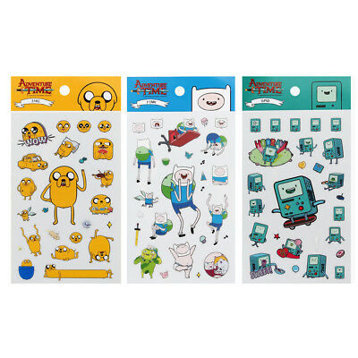 Adventure time Clear vinyl Stickers  Scrapbooking sticker FINN JAKE BMO