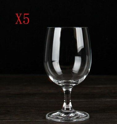 New 5X Capacity 310ML Height 150MM Transparent White Wine Glass/Glassware %