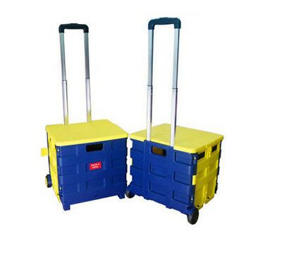E7 Folding Aluminium HeavyDuty Luggage Trolley Hand Truck Foldable Shopping Cart