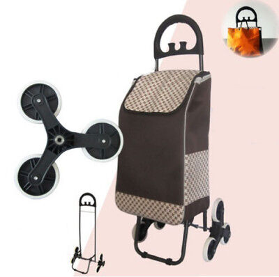 E188 Rugged Aluminium Luggage Trolley Hand Truck Folding Foldable Shopping Cart