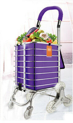E69 Rugged Aluminium Luggage Trolley Hand Truck Folding Foldable Shopping Cart