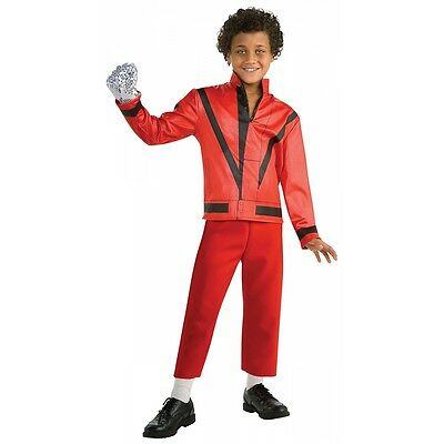Thriller Jacket Kids Michael Jackson Costume Halloween Fancy Dress